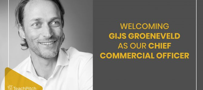 Welcoming Gijs Groeneveld as our Chief Commercial Officer